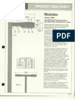 Moldcast Lighting Product Data Sheet Modulex 1983