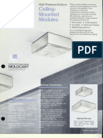 Moldcast Lighting Ceiling Mounted Modules HPS Spec Sheet 1978