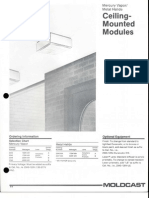 Moldcast Lighting Ceiling Mounted Modules MV and MH Spec Sheet 4-89