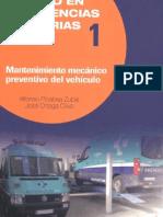 Mantenimiento mecánico preventiivo del vehículo