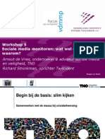 Workshop 5 Sociale Media Monitoren Wat Wel en Wat Niet en Waarom