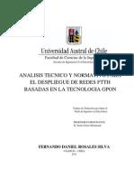 ANALISIS TECNICO Y NORMATIVO FTTH BASADO EN GPON