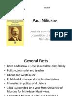 Paul Miliukov Powerpoint