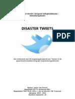 Disaster Tweets, Toegevoegde Waarde Twitter in Operationele Beeldvorming Hulpverleningsdiensten