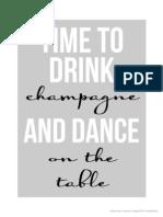 NYE Champagne Poster - The TomKat Studio