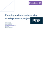 Planning a video conference or telepresence project