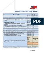 Cronograma Contrato Docente 2013 - UGEL Tarma
