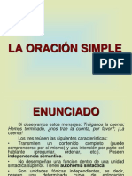 LA ORACIÓN SIMPLE. CORVERA