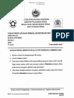 Percubaan UPSR 2011 - Bahasa Inggeris Kertas 1_perak