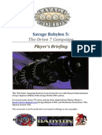 Savage Babylon 5 (Player Handbook)