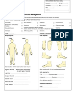 NHS Fife Assessment Chart for Wound Management