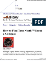 How to Find True North Without a Compass - WikiHow