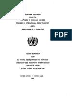 Acuerdo europeo sobre el trabajo de personal de los vehículos que se dedican al transporte internacional por carretera (AETR). Ginebra, 19 de enero de 1962