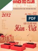 Bản tin clb Cờ Vây Hà Nội số 14 - tháng 12/2012