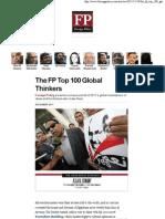 The 100 Global Thinkers