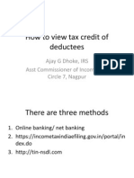 How to view tax credit of deductees/taxpayers