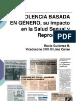 Violencia Basada en Genero y Su Impacto en La Salud Sexual Reproductiva