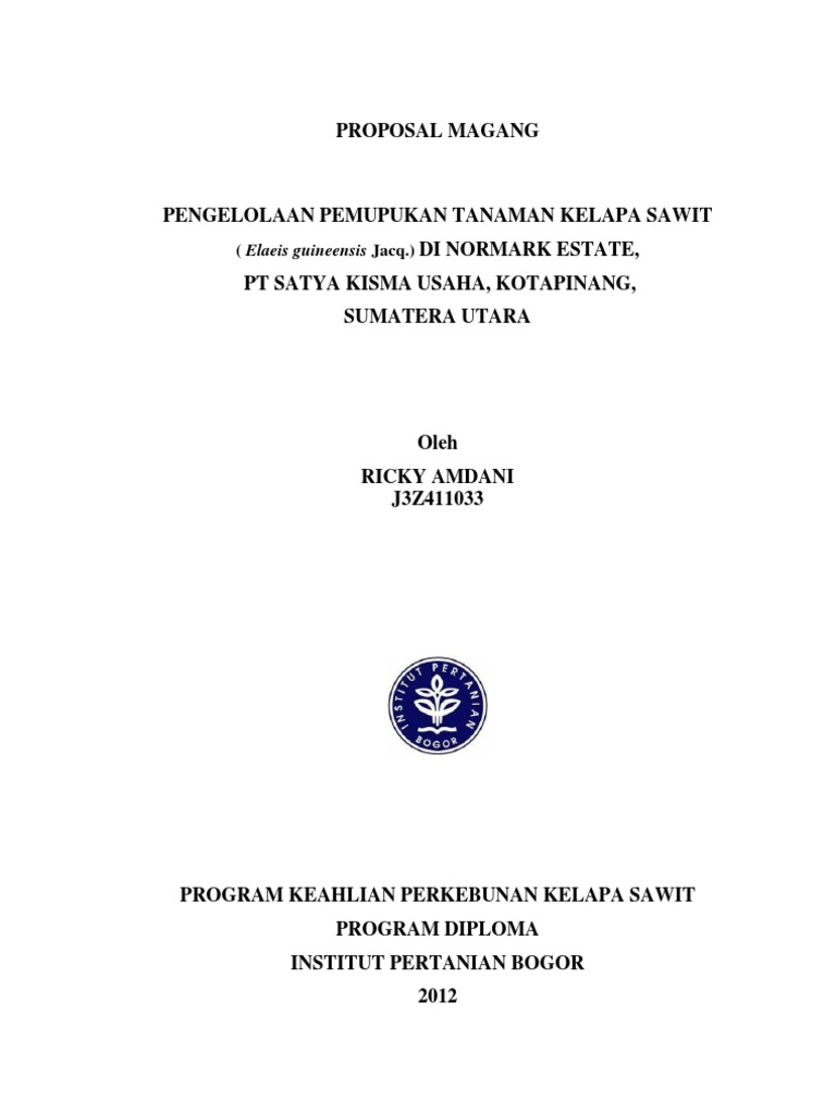 Contoh Laporan Mandor Kelapa Sawit Guru Paud