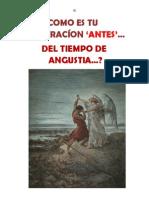 ¿COMO ES TU PREPARACIÓN 'ANTES'  DEL TIEMPO DE ANGUSTIA?