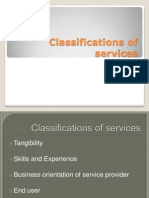 Classifications of Services