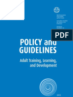 Policy and Guidelines Adult Training, Learning, and Development