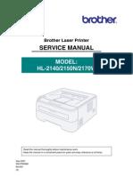 Brother hl-2140, hl-2150n, hl-2170w service manual