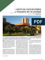 Los centros comerciales y su impacto en la ciudad