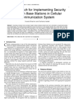 An Approach for Implementing Security between Base Stations in Cellular Communication System