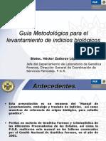 Levantamiento de Indicios Biologicos (PGR)