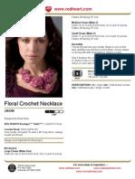 Floral Crochet Necklace