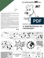 Panfleto esterilização animal de estimação