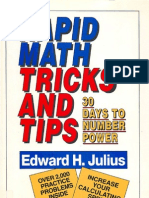 Rapid Math Tricks and Tips. Edward H. Julius