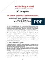 Report of the Cc of Cpi to 26 Congress- March-2012