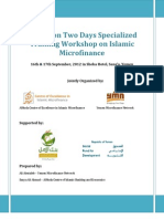 Report - Islamic Microfinance Workshop