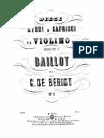 de Beriot violin 10 Studies or Caprices Op.9 Violin