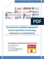 Motivating Employees in Multinational Organisation