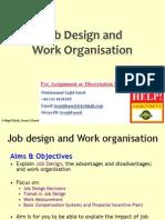 Job Design and Work Organisation