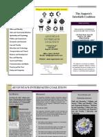 2012-2013 Augusta Interfaith Coalition Brochure - Progressive Religious Coalition of Augusta