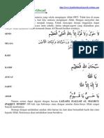 Amalan Zikir Imam Al-Ghozali