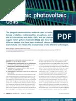 Inorganic Photovoltaic Cells
