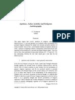 aelius aristides and Apuleius religious autobiography