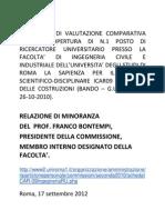 Concorso ROMA La Sapienza Tecnica delle Costruzioni