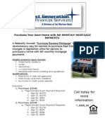 Reverse Mortgage for Purchase Flyer