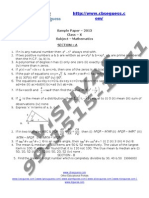 17607question Paper for Cbse September 2012