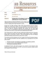 Pib 2012-015 - Expiration of the Middle Class Tax Relief & Job Creation Act of 2012