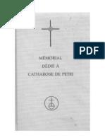 memorial dedie a catharose de petri