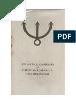 Noces Alchimiques de christian rosecroix tome2