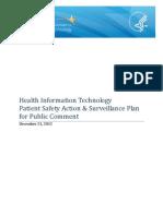 HHS Patient Health Data Surveillance Plan