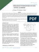 Tuning of Pid Controller of Inverted Pendulum Using Genetic Algorithm