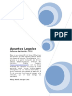 Apuntes Legales 2012 - Opiniones e Ideas Por Alan Vargas Lima